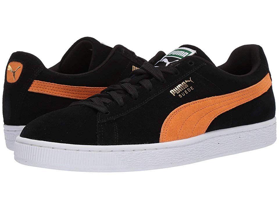 wholesale dealer 26a9c 2b540 PUMA Suede Classic Men's Shoes Puma Black/Orange Pop ...