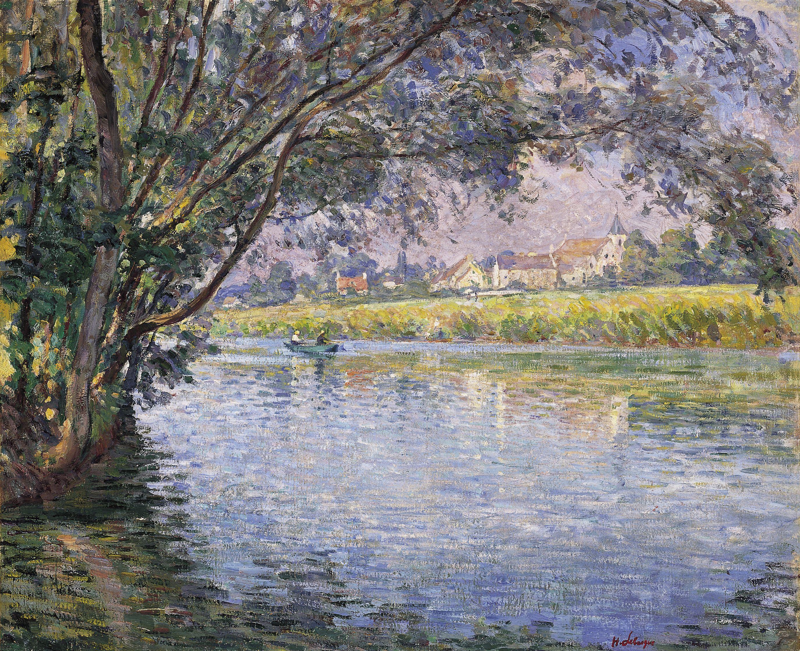 Henri Lebasque, Banks of the River Marne near Montévrain (ca.1900 ...