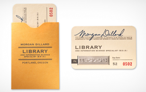 Your Very First Library Student Business Cards – hls