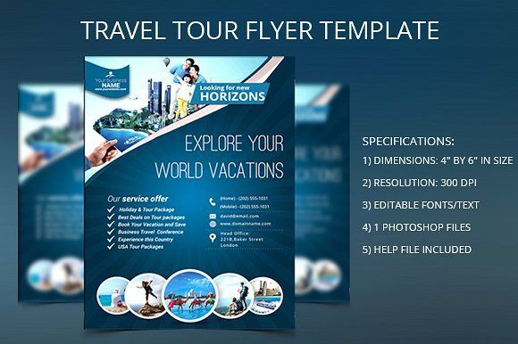 TRAVEL TOUR FLYER TEMPLATE By Gouravji21 On Creativemarket