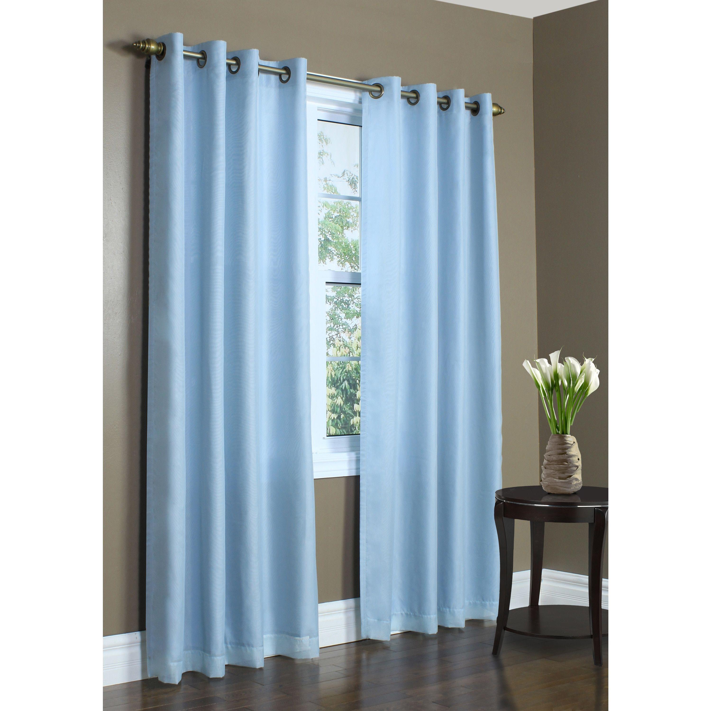 Rhapsody Lined Window Curtain Panel (Rhapsody Lined, 104 x 95, Aqua ...