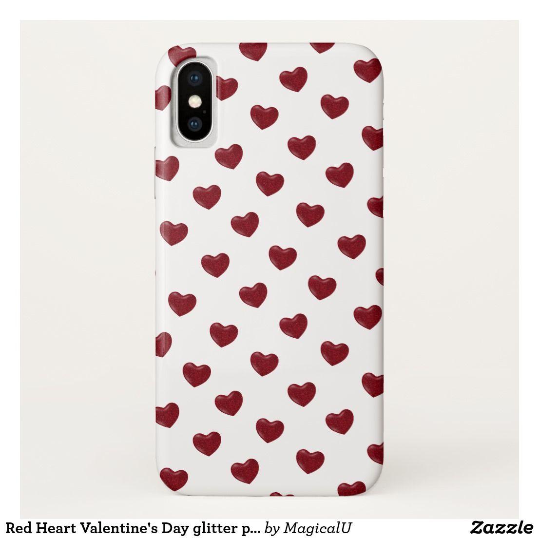 Red Heart Valentine S Day Glitter Pattern Case Mate Iphone Case