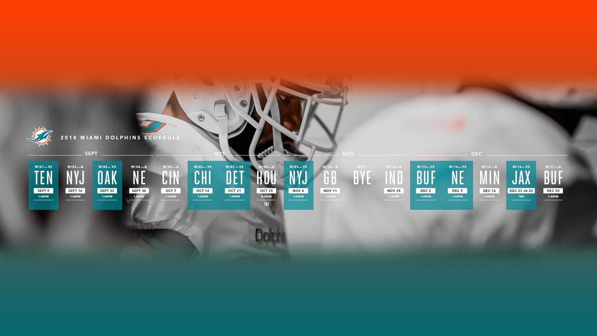 Miami Dolphins Schedule Wallpaper 1920x1080(from the