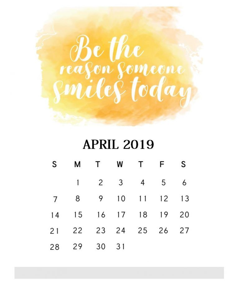 Inspirational April 2019 Quotes Calendar Calendar 2019 Calendar