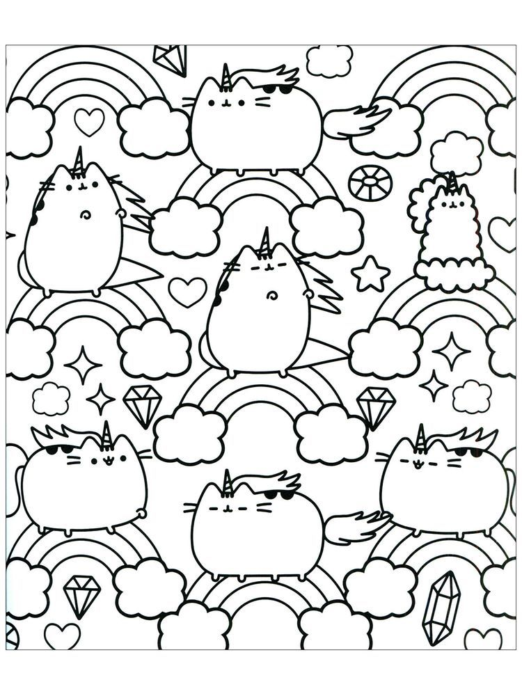 Pusheen Coloring Pages Cute Unicorn Coloring Pages Pusheen