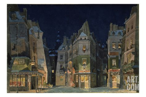 Set design for Act 2 of La Bohème, Opera by Giacomo Puccini Giclee Print by Adolfo Hohenstein at Art.com