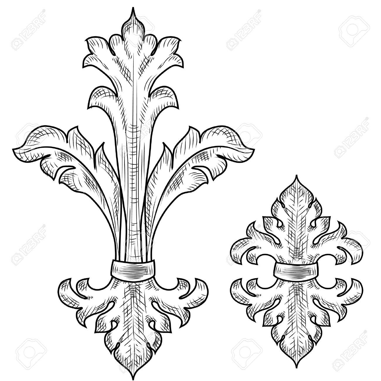 17009655 baroque design elements stock vector baroque for Baroque architecture elements
