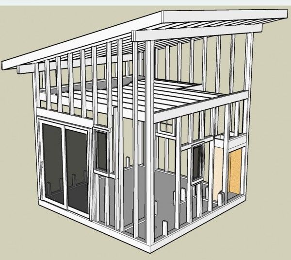 Interior shed roof loft how to build a small shed for Free barn plans with loft