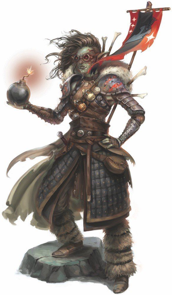 Half Orc Artificer Female Dd Characters Pinterest Character