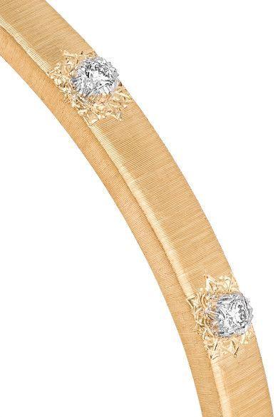 Buccellati Macri 18-karat Yellow And White Gold Diamond Bracelet IFjt7JtZV4