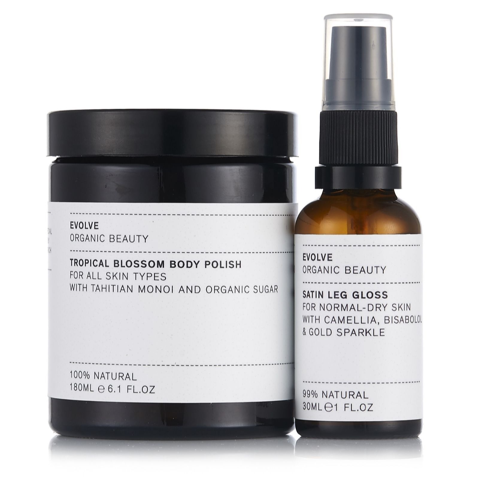 This body duo by Evolve Beauty features the Tropical