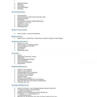 Eine Qm Checkliste Uber Die Inhalte Der Hausbesuchstasche Des Arztes Fur Den Notfalldienst Und Regulare Hausbes Medizinische Fachangestellte Arztpraxis Medizin
