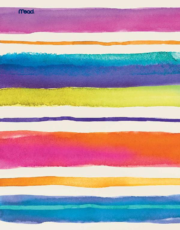 Mead Watercolor Shape It Up by Alissa Evans, via Behance