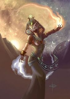 Renenet - Egyptian goddess of great power who, in ancient times, gave newborn babies the gift of their true names