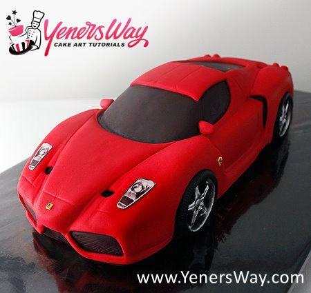 3d Ferrari Enzo Car Cake Cakesdecor Car Cake Tutorial Car Cake Ferrari Cake