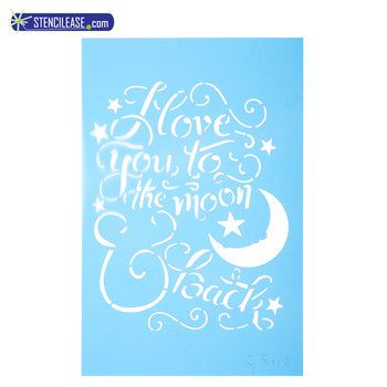 To the Moon  Back Stencil Art Pinterest Stenciling