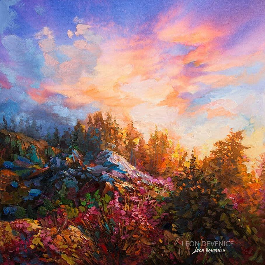 Art painting  bush scrub Landscape tree original By Jane COA aboriginal