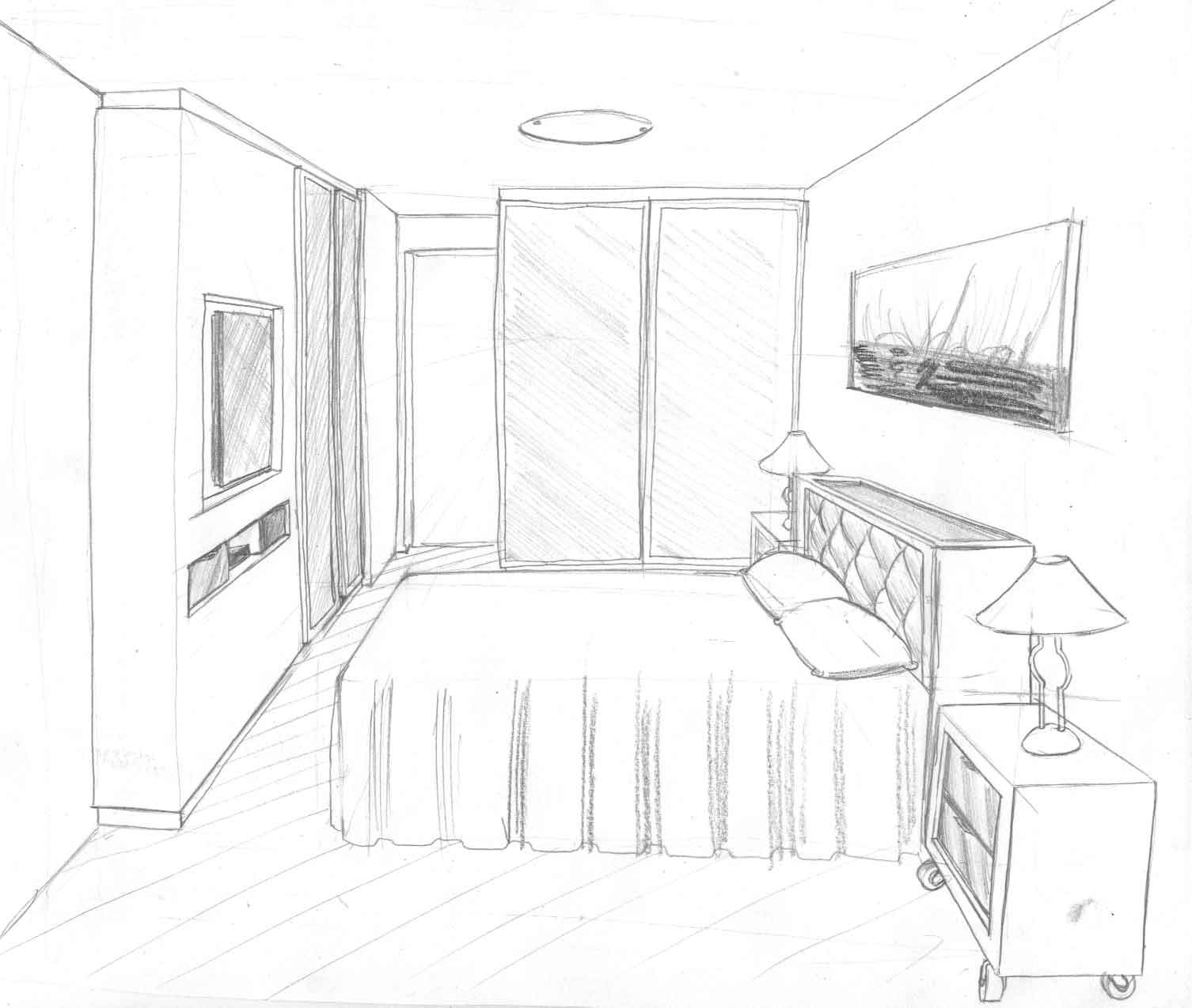 Bedroom One Point Perspective Bedroom Interior Paint Bedroom Chairs With Footstool Bedroom Paint Colours Blue: Pin By Leslie S Smith On Drawing Lessons In 2019