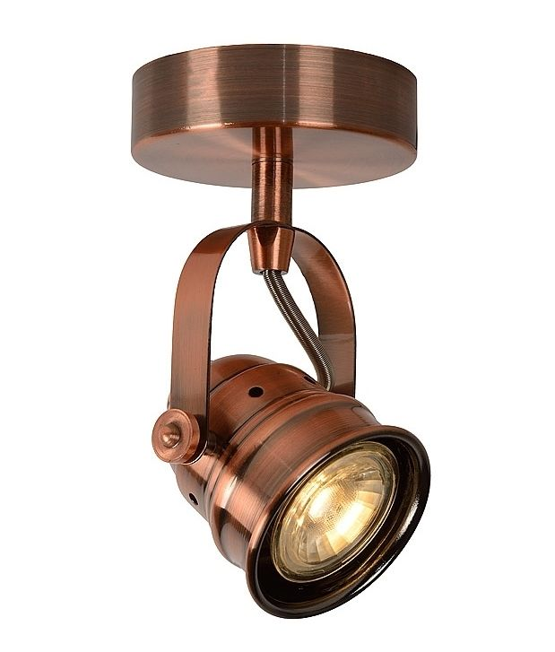 LED Vintage Single Stirrup Spotlight Available In Red Copper Or Antique  White From Lighting Styles, Interior Spot Light Specialists. Photo