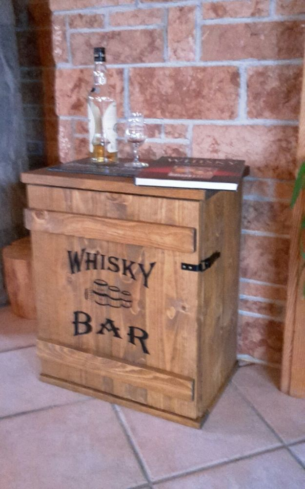 Bar Theke Mit Schrank Mini Bar Whiskey Frachtkiste Shabby Vintage Schrank Whisky