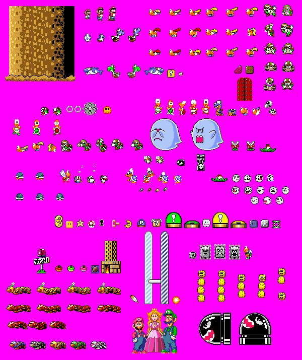 Super Mario World Sprites | Pixel Art | Mario bros e Mario