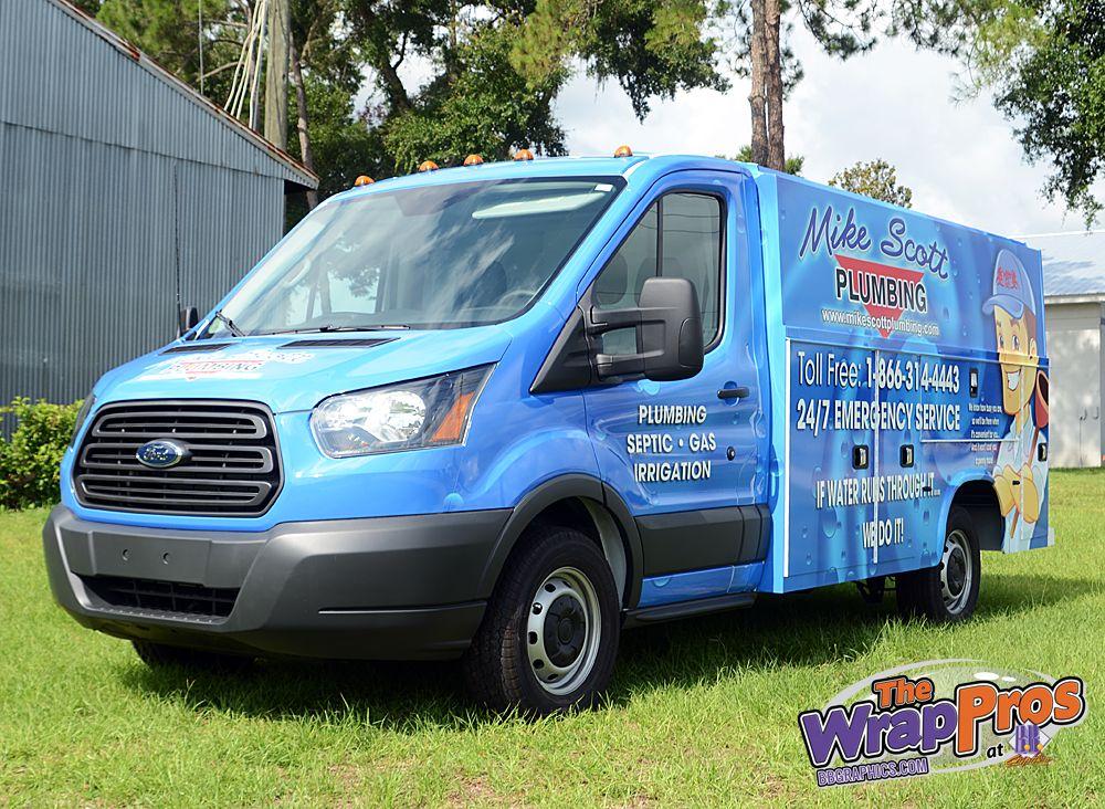 Mike Scott Plumbing Transit 3m Certified Vehicle Wraps Ocala Florida