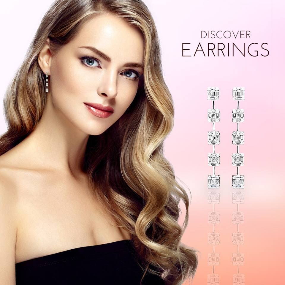 """For that special woman, give these beautiful Link of Crystella earrings, worked with the BEST diamonds in the market. Free shipping included. #EravosisLOVE  ----------------------------------------------------- Para esa mujer especial, regala estos hermosos pendientes """"Link of Crystella: , trabajados con los mejores diamantes en el mercado y con envío gratuito. #EravosisLOVE"""