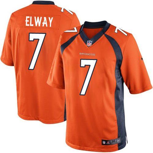 1f8de4cd where to buy limited john elway jersey denver broncos 7 home orange ...