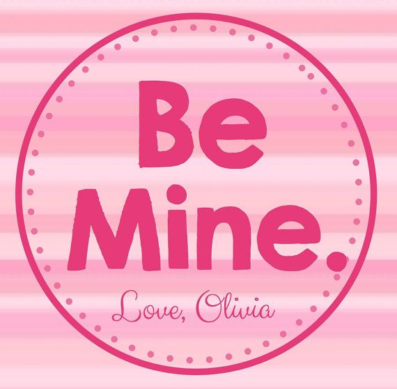 Be Mine Personalized Valentine's Day Tag on Etsy, $3.00