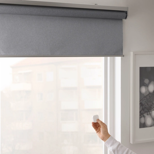 It S Official Ikea S Smart Blinds Are Coming To The U S This Spring Blackout Roller Blinds Smart Blinds Electric Blinds