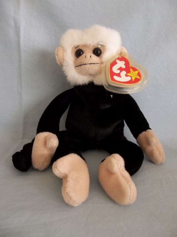 52358625f59 Retired 1999 Ty Beanie Babies Mooch Spider Monkey Rare NO     Error on Tag   Ty