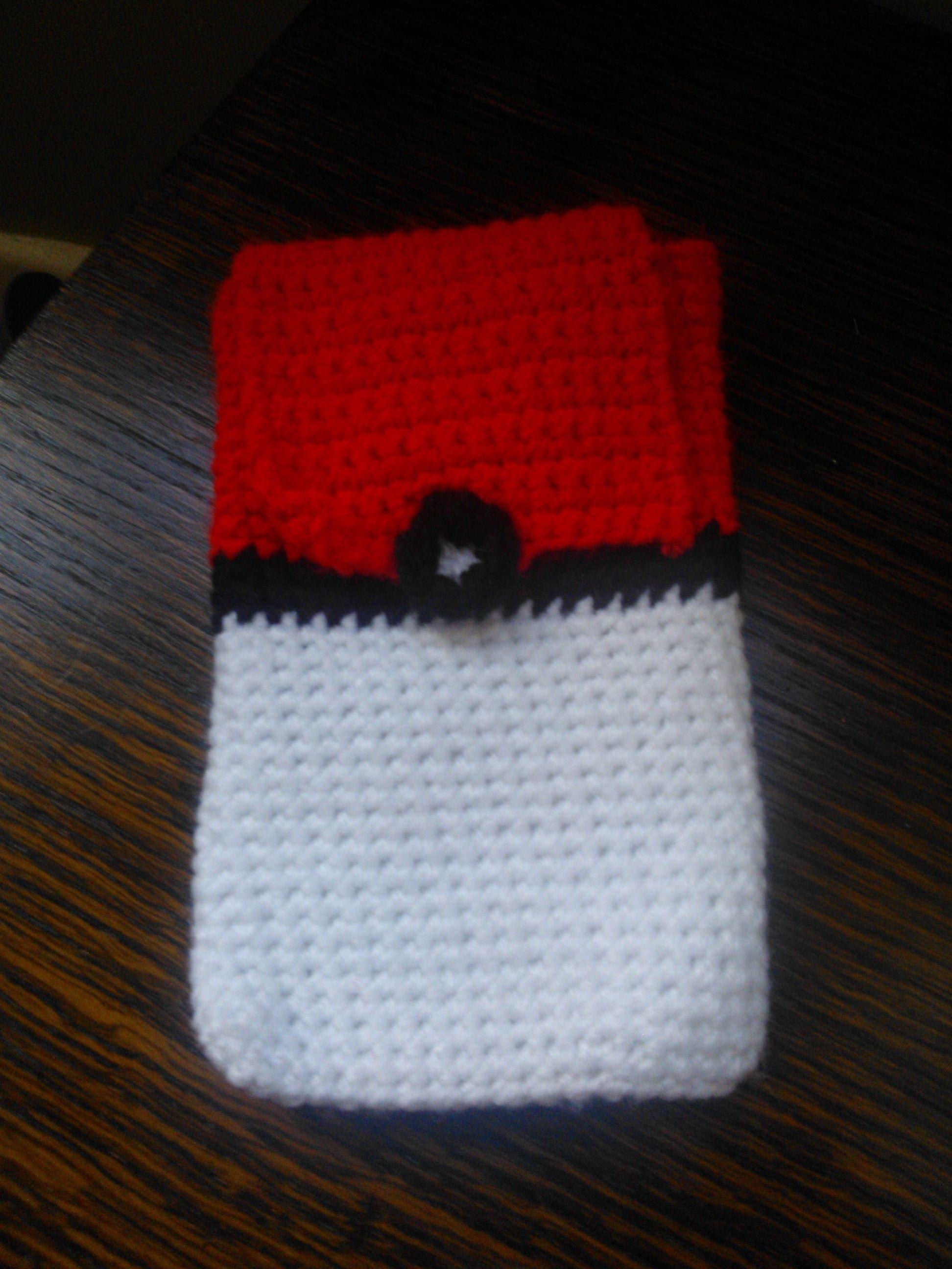 Crochet Nintendo 3ds Pokemon Pokeball Case With Pocket For Game