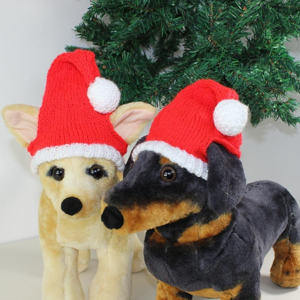 182744081907e This is my FREE Dog Christmas Santa Hat knitting pattern. Have some fun  this Christmas and make your pet one of these.The knitting pattern provides  full ...