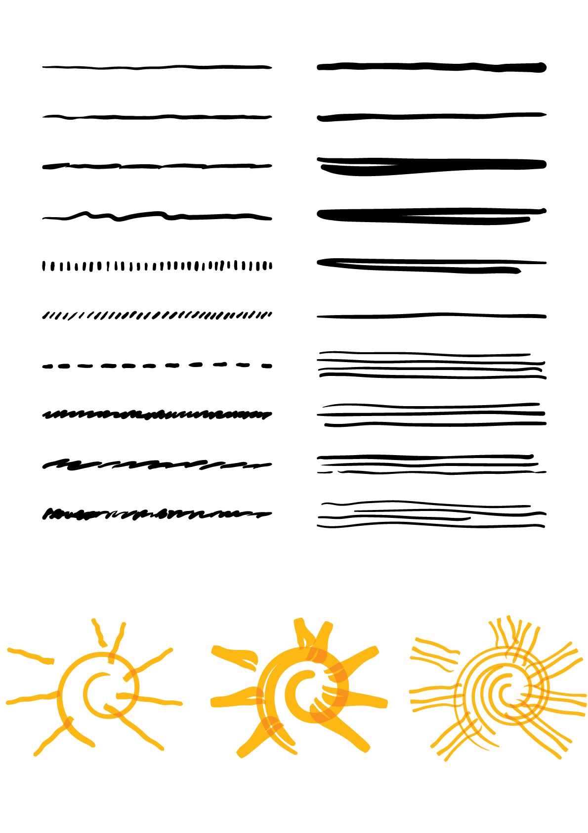pinsel brushes fur illustrator zum download filzstift wasserfarben tutorial vektorgrafik erstellen elch vektor indesign