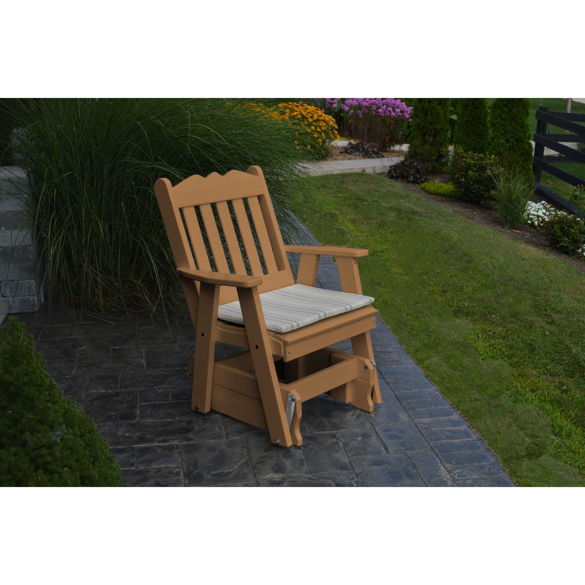 Au0026L Furniture Company Recycled Plastic Royal English Gliding Chair