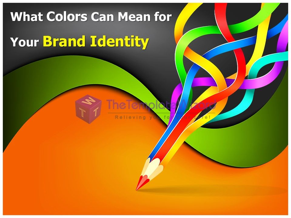 "check ""what #colors can mean for your #brand identity #powerpoint, Presentation templates"