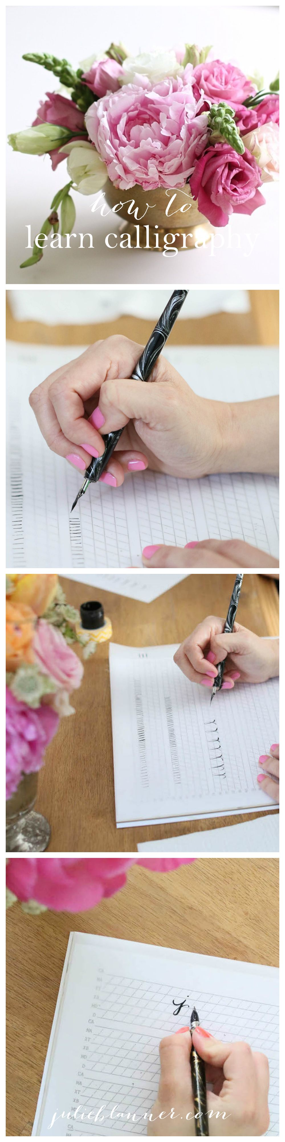 Learn calligraphy free printables and