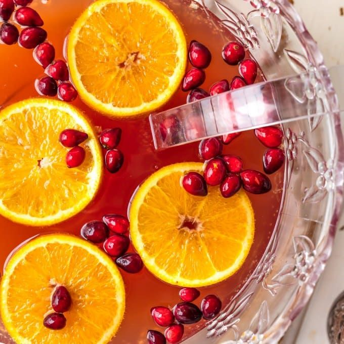 EASY HOLIDAY PUNCH Perfect For Thanksgiving And Christmas