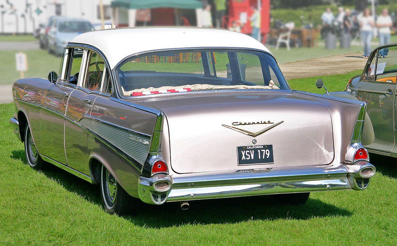 Chevrolet Bel Air 1957 4door Sedan Rear Tri Five Wikipedia
