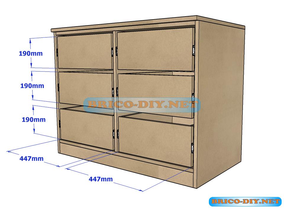 Bricolaje diy planos gratis como hacer muebles de melamina for Planos de carpinteria de madera