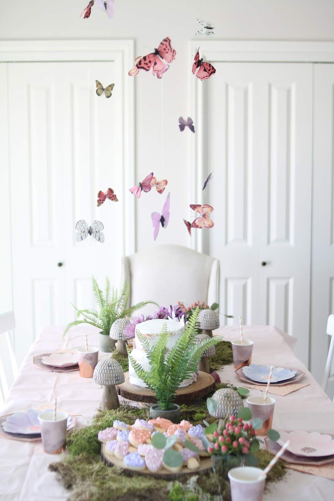 A Fairy Butterfly Fourth Birthday Party (With images
