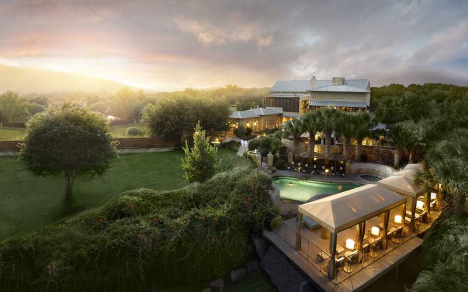 Lake Austin Spa Resort in Austin, Texas: More than anything, this luxe, rustic resort located just outside the Austin city limits in Hill Country gives its guests options. Take cooking classes with visiting chefs, try your hand at an Aqua Fit workout, or take a kayak out on the lake.