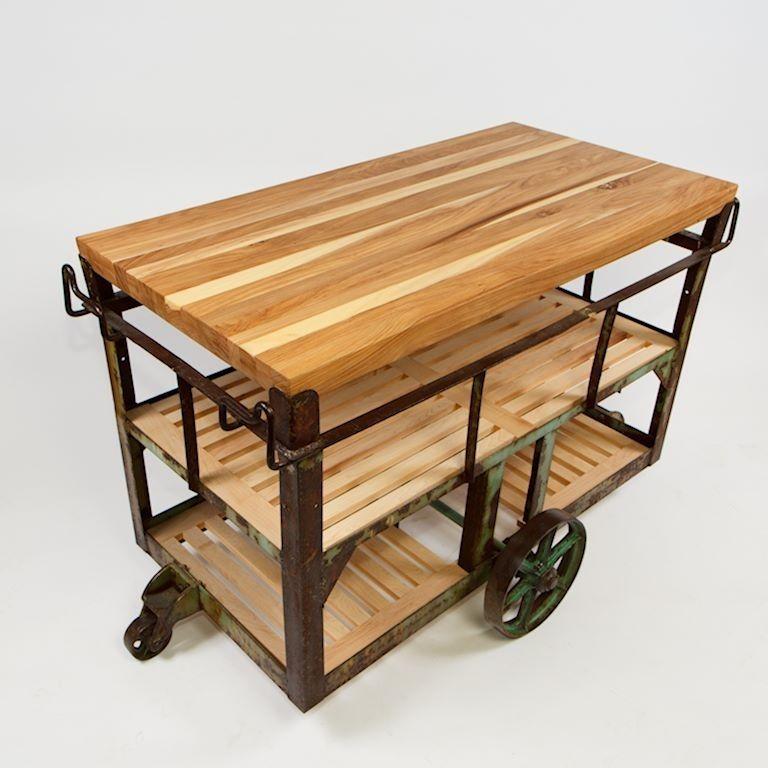 Kitchen Island Carts Acrylic Sinks Custom Made Cart Remodel