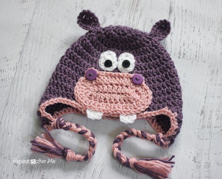 Crochet Hippo Hat Pattern | Mütze häkeln, Häkelmuster und Mütze