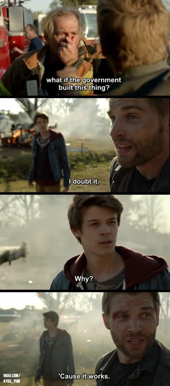 I thought this was funny...a scene from Under the Dome. :)