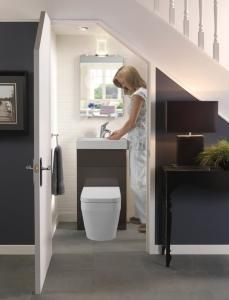 Small Bathroom Design Under Stairs got some extra space under your stairs – then why not considering
