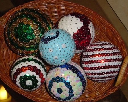 Esferas con lentejuelas navidad pinterest - Esferas de navidad ...