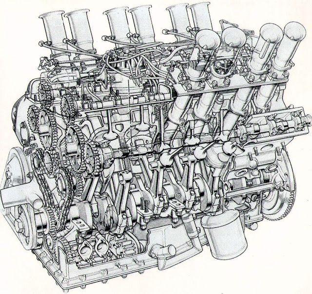 the original 1960s concept jaguar v12 race engine of 5000cc later to rh pinterest com V8 Engine Diagram 2007 GTI Engine Cutaway Diagrams