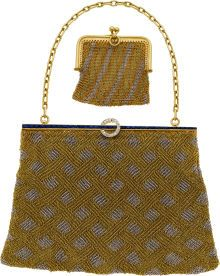 Estate Jewelry:Purses, Diamond, Sapphire, Platinum-Topped Gold, Gold Mesh Purse and CoinPurse. ...