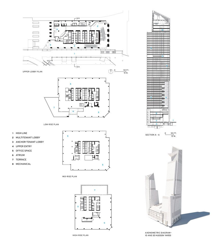 Floor Plans And Elevations Of 10 Hudson Yards Office Floor Plan How To Plan Architecture Building Design